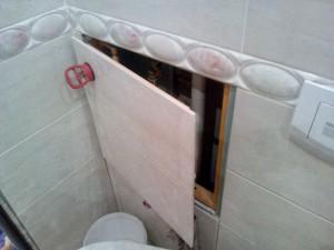Скрытый люк в ванной