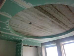 Потолок до отделки